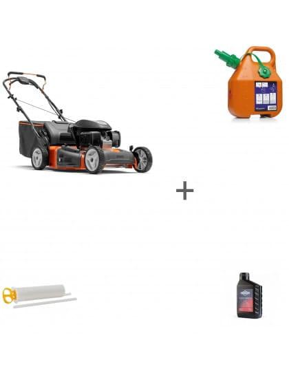 Газонокосилка бензиновая Husqvarna LC 356V + канистра + масло + шприц