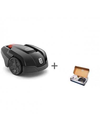 Газонокосилка-робот Husqvarna Automower 105 + Комплект для установки газонокосилки-робота Малый в подарок!