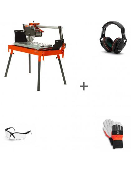 Камнерезный станок Husqvarna TS 100 R + наушники + перчатки + очки в подарок!