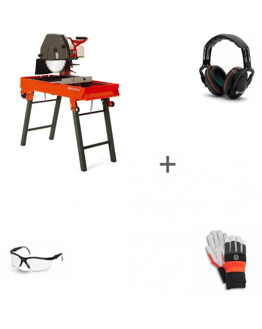 Камнерезный станок Husqvarna TS 400 F + наушники + перчатки + очки в подарок!