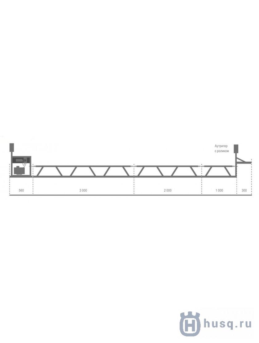 Секция опора выдвижная аутригер в комплекте с роликами для BT 90 Husqvarna (Atlas Copco)