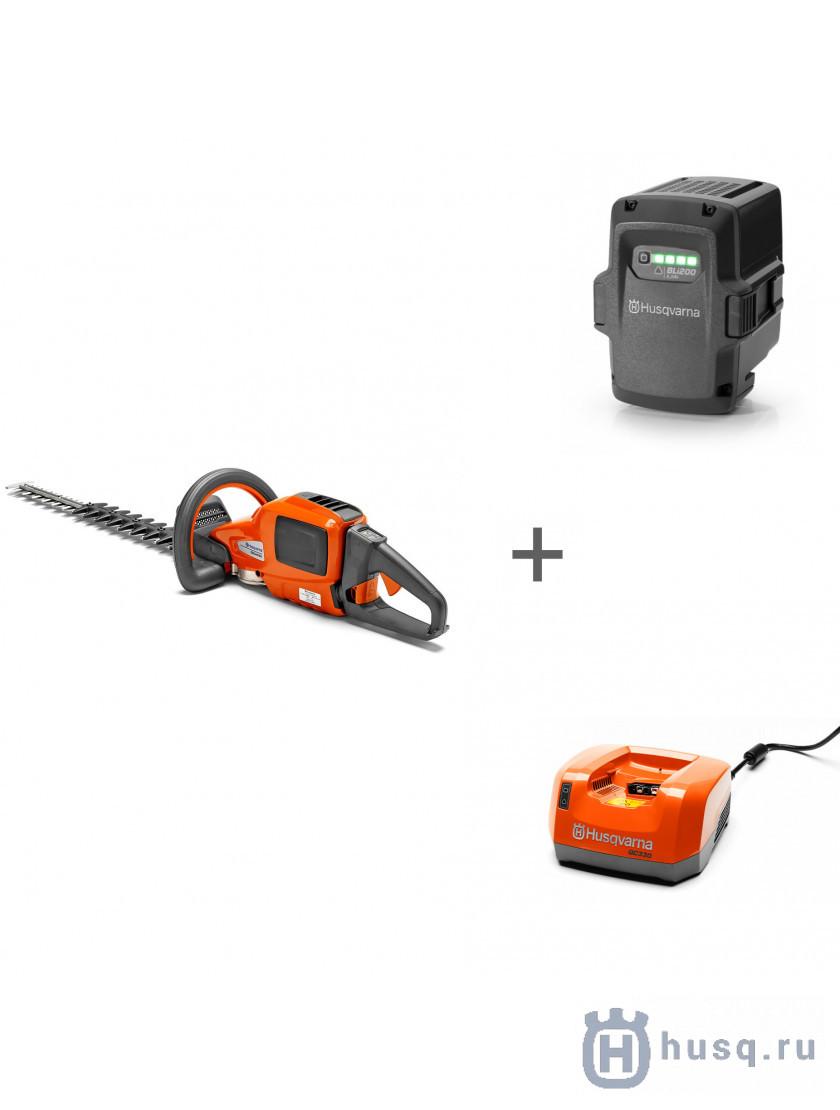 Аккумуляторные ножницы Husqvarna 520iHD60 + аккумулятор BLi200 + зарядное устройство QC 330