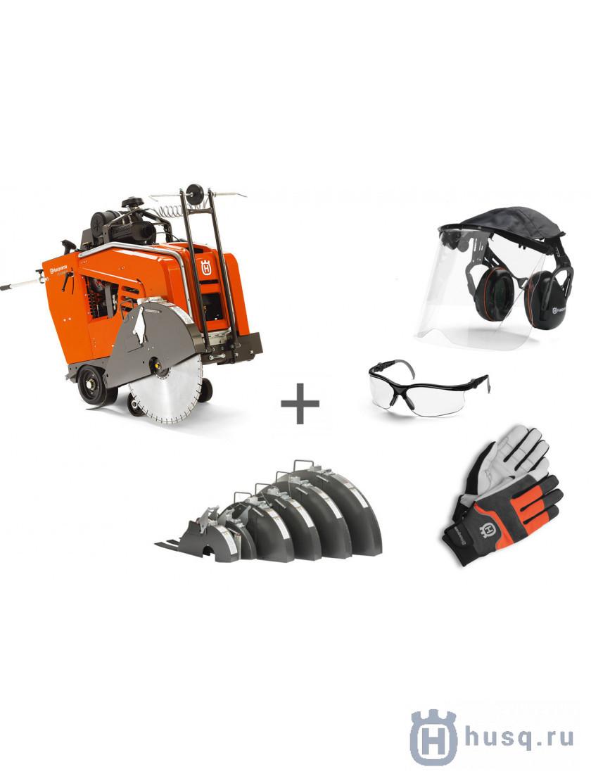 Швонарезчик дизельный Husqvarna FS 4800 D + кожух + наушники с маской + очки + перчатки в подарок!