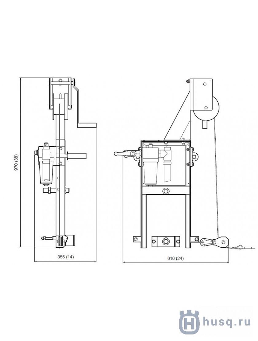 Привод пневматический Husqvarna (Atlas Copco) BT 90 P