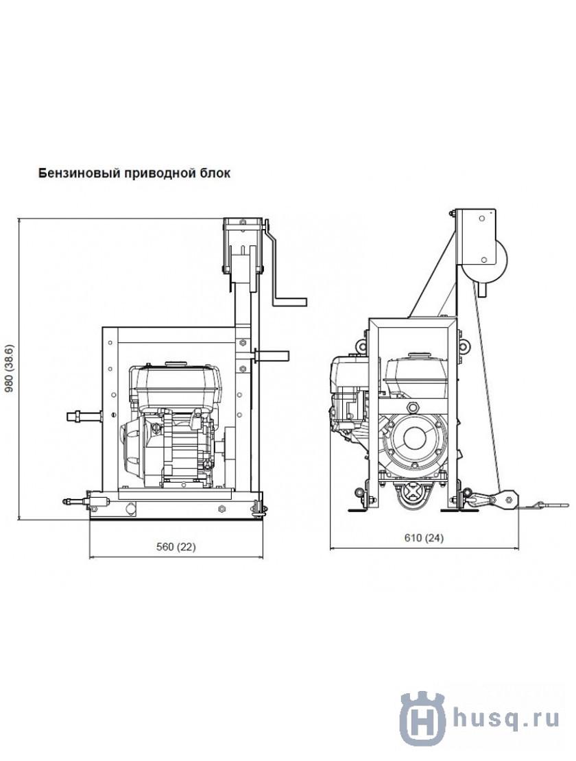 Привод бензиновый Husqvarna (Atlas Copco) BT 90 G