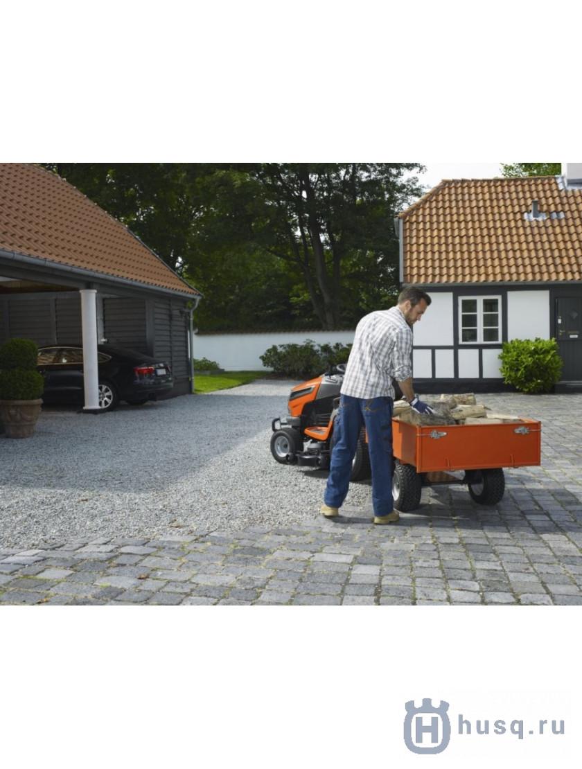 Садовый трактор Husqvarna TC 242T с травосборником